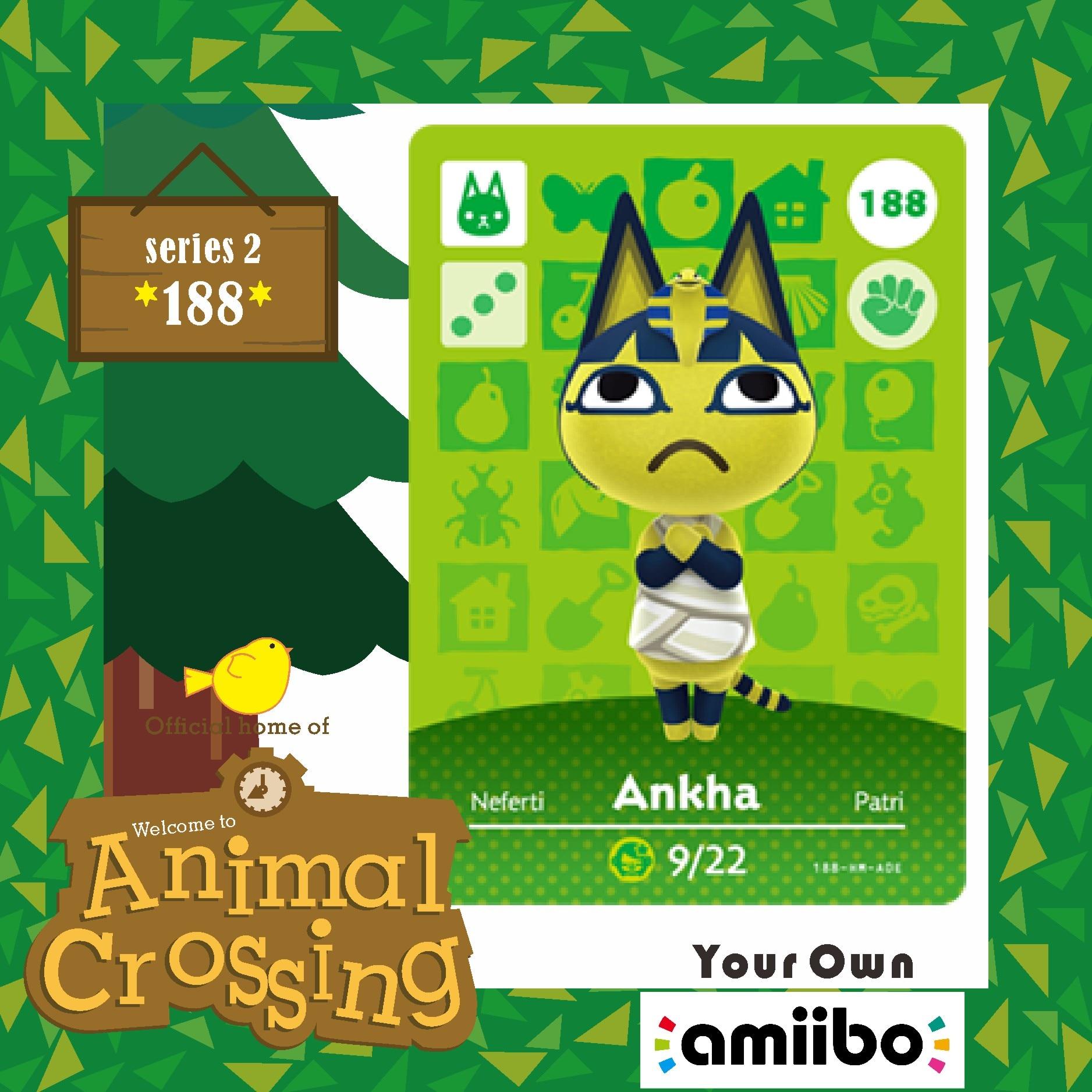 Welcome Amiibo Animal Crossing New Horizons Villager Card Amiibo Animal Crossing Amiibo Ankha 188 for NS Game Season Series 2 1