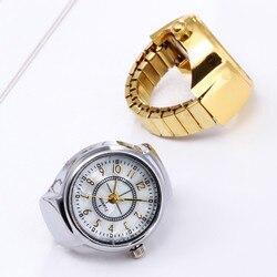 2021 anéis Para As Mulheres Dial Analog de Quartzo Relógio de Aço Criativo Fresco Elastic Quartz Watch Ring Finger кольца набор