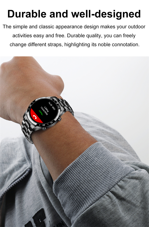 LIGE New Men Smart watch Heart rate Blood pressure IP68 waterproof sports Fitness watch Luxury Smart watch male for iOS Android