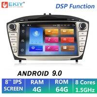 EKIY 8'' 2 Din Car Multimedia Player Android 9.0 For Hyundai/IX35/TUCSON 2009 2015 Autoradio DVD GPS Navigation 4G+64G OBD2 Wifi