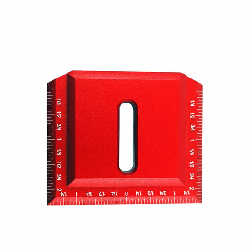 90 градусов квадратный деревообрабатывающий Scribe алюминий 68 мм l-образный дюймовый измерительный инструмент измерительный Калибр квадратная линейка скрещенный инструмент