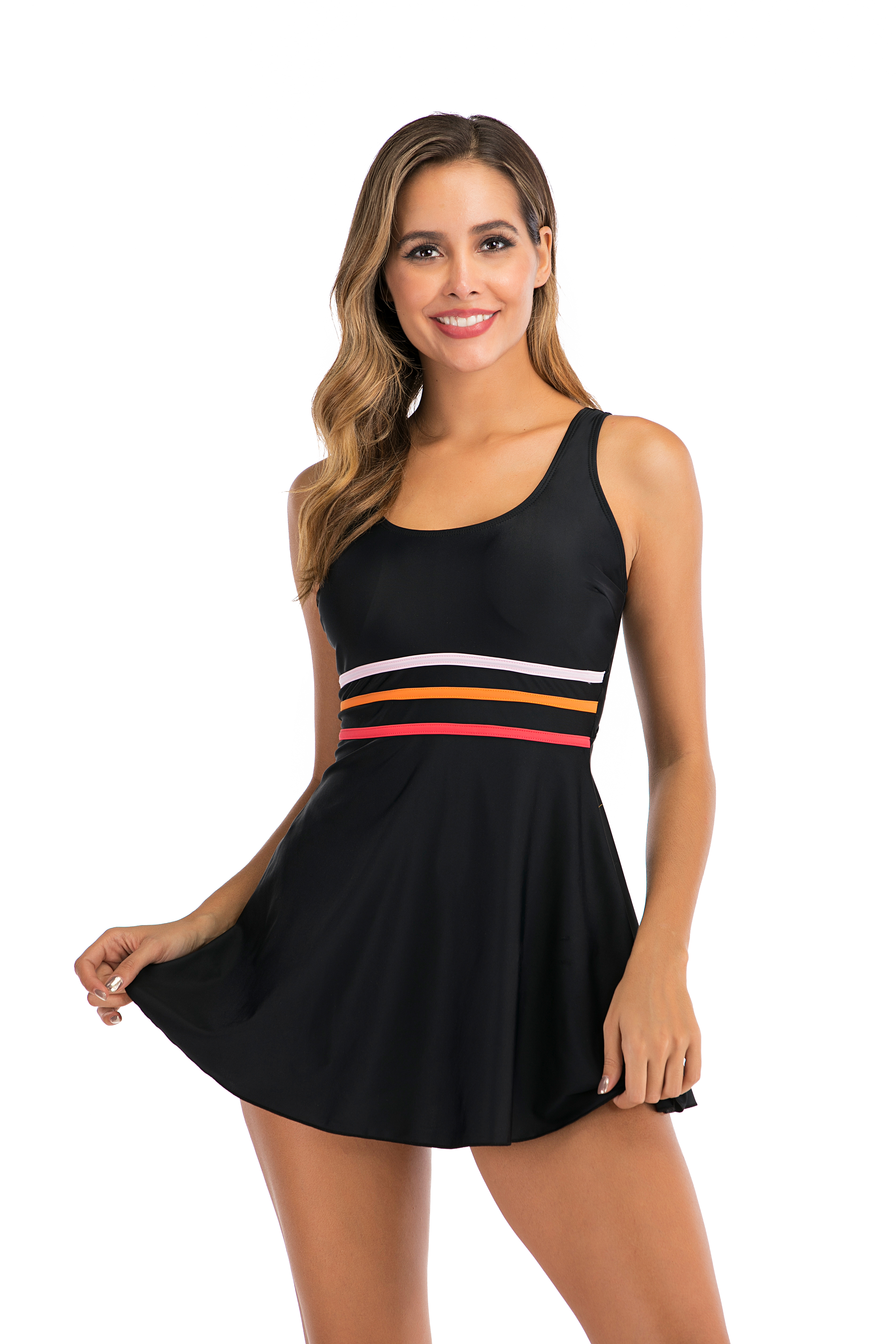 Plus Size Tankini Sport Swimsuit Dress Swimming Suit Women Swimwear Skirt Big Size Sexy Swimsuit Padded Beach Bathing Suit S-5XL