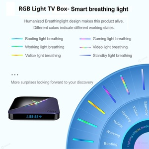 Image 3 - VONTAR A95X F3 RGB Licht TV Box Android 9,0 4GB 64GB 32GB Amlogic S905X3 8K 60fps wifi Media Player A95XF3 X3 2GB16GB TVBOX