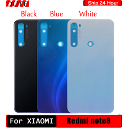 For Xiaomi Redmi Note 8T Battery Cover Genuine Glass Replace Redmi Note8 T Back Case Door Window For redmi note 8 Battery Cover