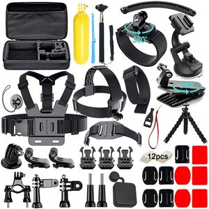 Image 2 - FULL 50 in 1 Action Camera Accessories Kit for GoPro Hero 2018 GoPro Hero6 5 4 3 Carrying Case/Chest Strap/Octopus Tripod