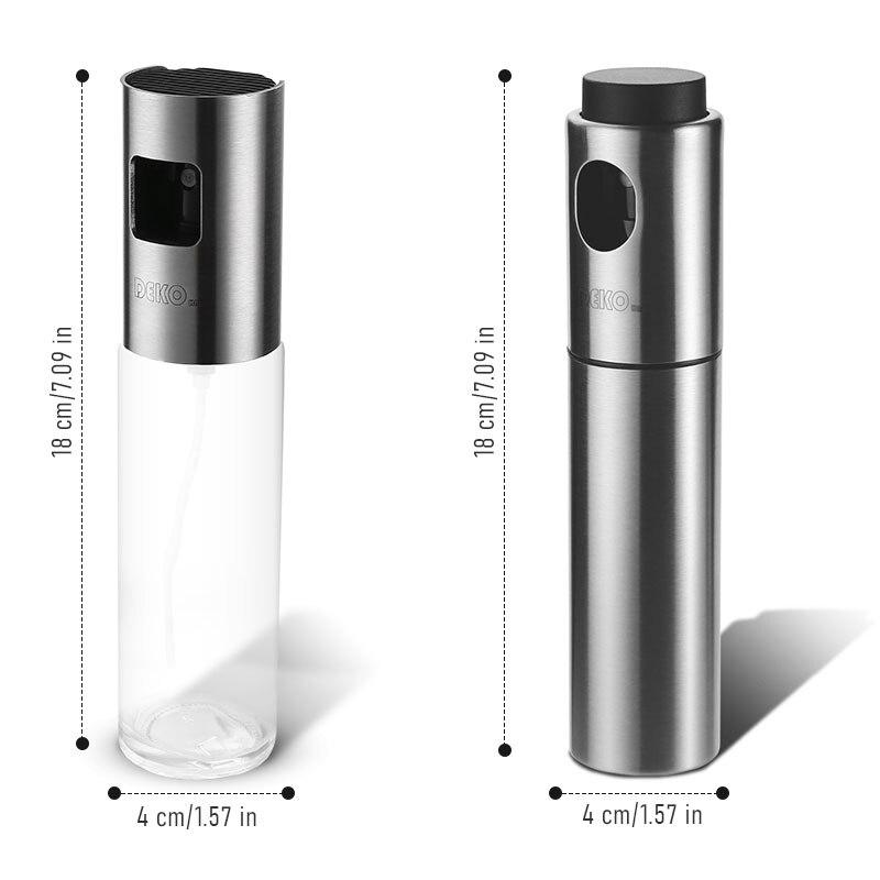 DEKO Vinegar BBQ Olive Oil Cooking Grill Dispenser Glass Stainless Steel Kitchen Cap Supplies Oil Spray Bottle 5
