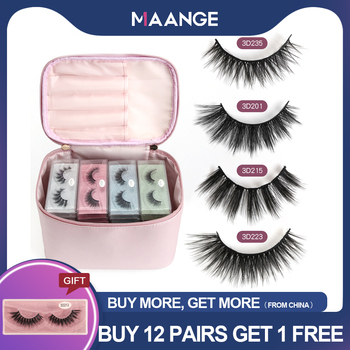 MAANGE 12/24/36/48/60 Pairs 3D False Eyelashes with Bag Mink Lashes Natural Long Make Up Eyelash Extension Beauty Tool Wholesale