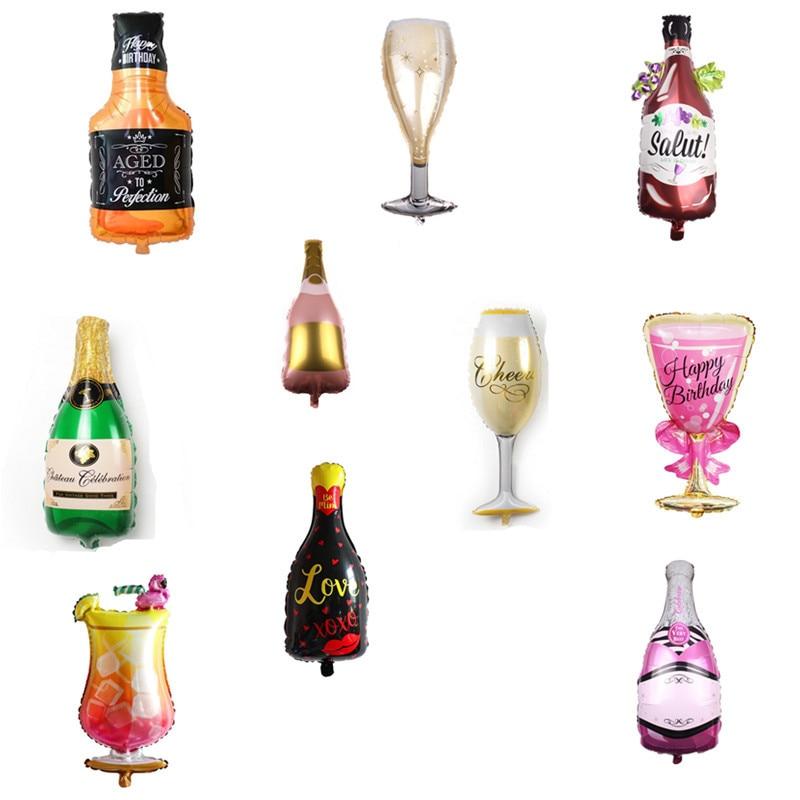 Новый Большой винный бокал , бутылка вина, алюминиевый шар , для дня рождения, сцена, оформление комнаты, международная торговля, лидер продаж-0