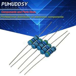 50PCS 1W Metal film resistor 1% 1R ~ 1M 2R 10R 22R 47R 100R 330R 1K 4.7K 10K 22K 47K 100K 330K 470K 1 2 10 22 47 100 330 ohm