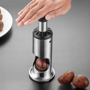Stainless Steel Manual Chestnut Opener Nutcracker Sheller Peel Antislip Chestnut Peeler Chestnut Artifact Kitchen Tool Accessory недорого