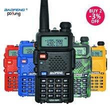 Baofeng UV-5R walkie talkie profissional cb estação de rádio baofeng uv 5r transceptor 5w vhf uhf portátil uv5r caça rádio presunto