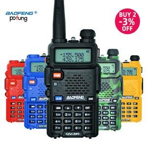 Image 1 - Baofeng UV 5R рация профессиональная CB радиостанция Baofeng UV 5R приемопередатчик 5 Вт VHF UHF портативная UV5R охотничий радиоприемник