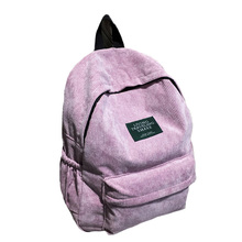 2019 Women Backpack Vintage Corduroy Backpacks Large Capacity Zipper  Design Schoolbag Teenager Girls mochila mujer Bag