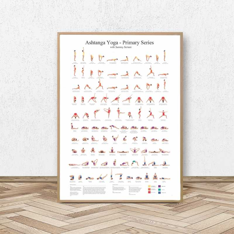 Ashtanga Primary Series Yoga Poster Canvas Art Prints Yoga Room Wall Art Decor Girls Fitness Gifts Gym Art Painting Decoration Aliexpress