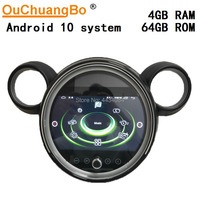 Ouchuangbo car radio gps multimedia for Mini Countryman R60 Paceman R61 with 4G wifi android 10 4GB 64GB free Korea map