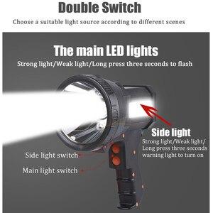 Image 2 - Linterna de pistola USB superbrillante, recargable, batería 18650 incluida, 3 modos, tactil, foco con luz lateral