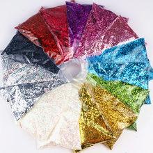 50g 1mm glitter prego lantejoulas holográficos em pó brilhando irregular 3d hexágono sequin verão popular diy decoração da arte do prego