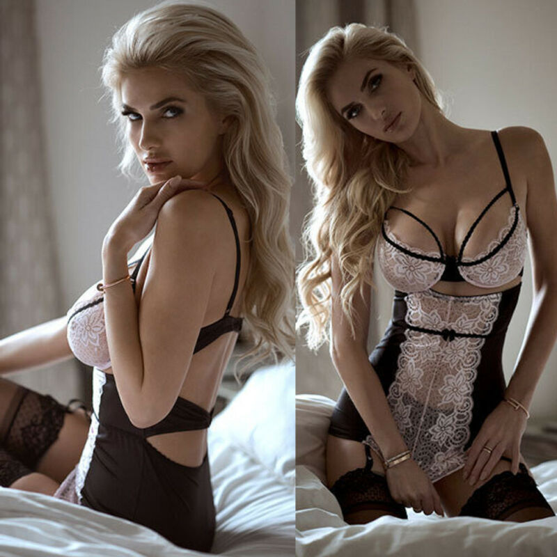 XXXL Womens <font><b>Sexy</b></font> Lingerie G-string Lace Lingerie <font><b>Sexy</b></font> Hot Erotic <font><b>Babydoll</b></font> Sleepwear Robe <font><b>Sexy</b></font> Underwear Plus Size <font><b>Dress</b></font> image