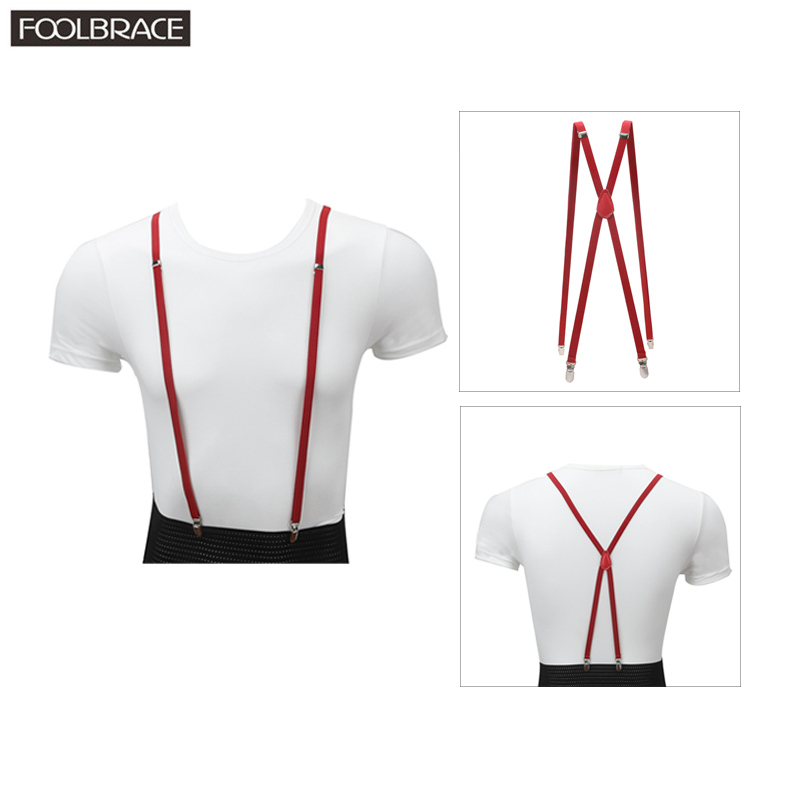 1cm Skinny Suspenders Women Mens Unisex Slim Thin Trouser Straps Adjustable Braces Clip-on Pants Suspenders Belt