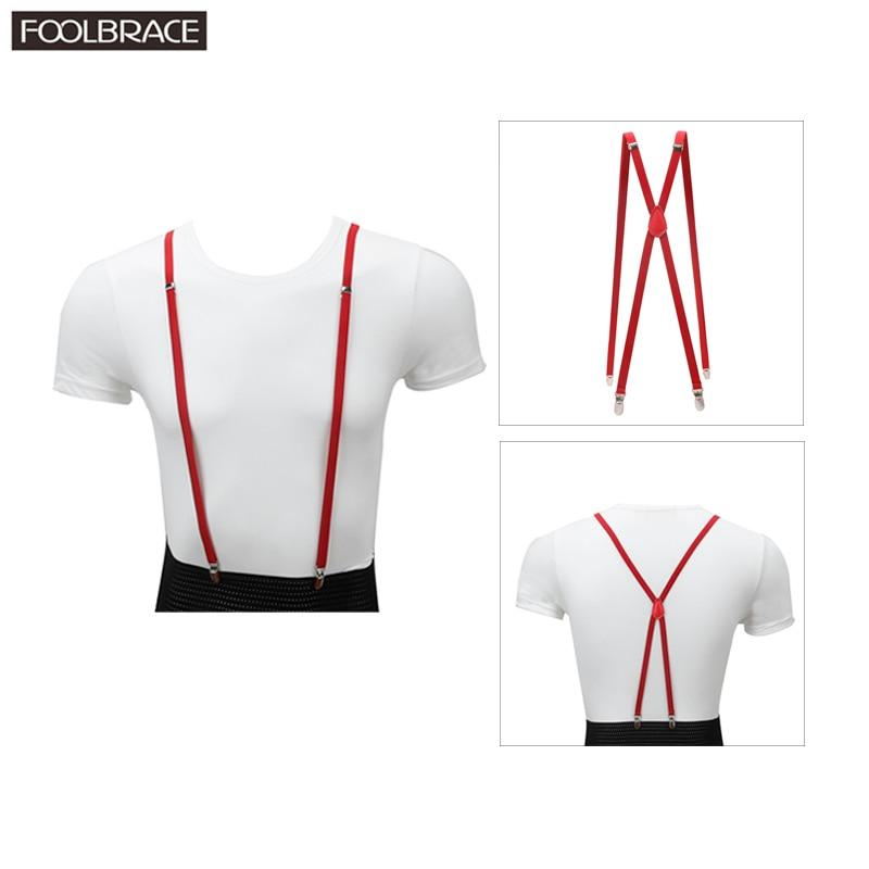 1cm Skinny Suspenders Women Mens Unisex Slim Thin Trouser Straps Adjustable Braces Clip-on Pants Suspenders Belt