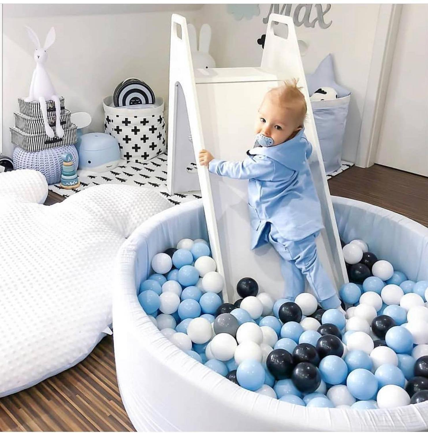 Kids Ball Pit - INS Hot Children Fencing Playpen Soft Round Kiddie Balls Pool Indoor Nursery Play Toy Gift for Baby Infant Room