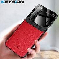 Funda a prueba de golpes KEYSION para Huawei Nova 7SE 7 Pro funda trasera del teléfono de cuero con espejo para Nova 7i 7 SE 6 5G 5 Pro 5i 4 3 2S