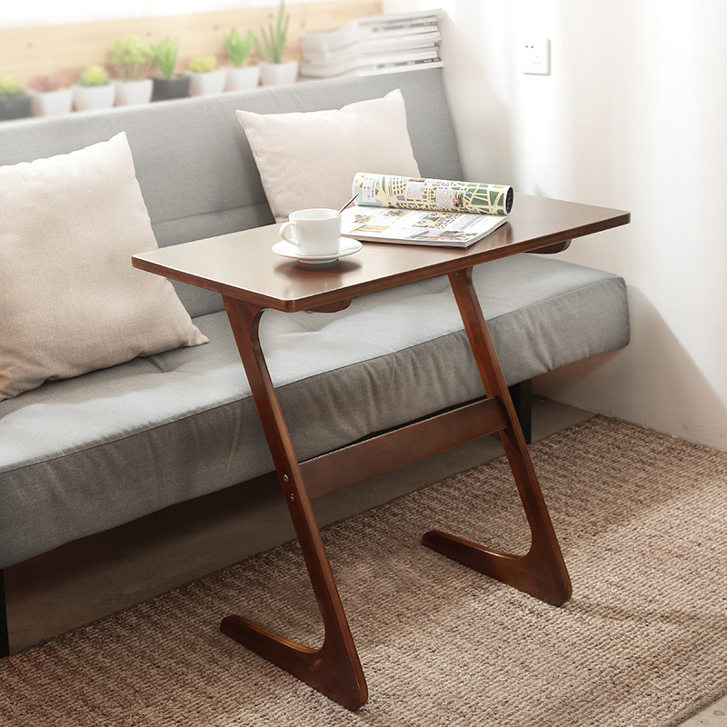Nordic Sofa Corner Table  Sofa Bedside Tables Living Room Movable Desk Simple Small Tea Table
