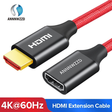 HDMI Extender Cable 4K 60HZ HDMI 2.0 Male to Female Extender Cable for HDTV Nintend Switch PS4/PS3 Projector HDMI Extension