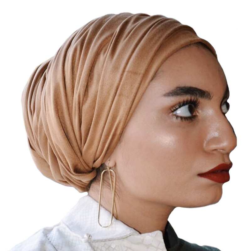 Religious Islamic Foulard Femme Africaine Suede Hijab Breathable Comfortable Women Scarf  Luxury  Shawls And Wraps