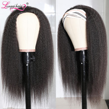Mongolian-Hair Wig Hair-Wigs Natural-Clip-In Straight Kinky Women for Longqi Remy