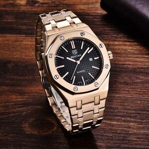 Image 5 - Benyar メンズ腕時計トップブランドの高級ゴールド腕時計メンズスポーツ軍事腕時計男性クォーツビジネス腕時計レロジオ masculino 2019