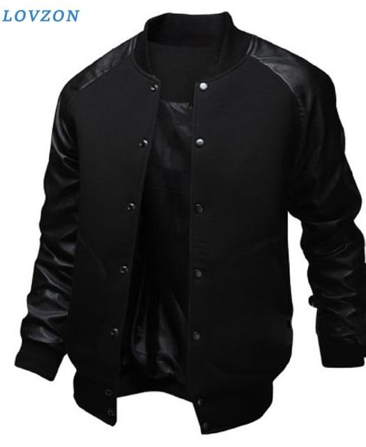 LOVZON New Brand Baseball Coats & Jackets  Fashion Design Spring Autumn Sports Slim Fit Stand Collar Jacket Men Plus Size 1