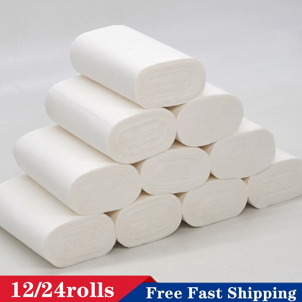 Hot Sale Free Shipping Roll Paper 4 Layers Bathroom Kitchen Roll Paper Primary Wood Pulp Toilet Paper Tissue Paper 2020