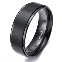 8mm Titanium Ring For VIP Link cheap SOMEN TUNGSTEN CN(Origin) Unisex Metal Classic Wedding Bands Round All Compatible TJZ08090B-there None Fashion Rings Simple Classic