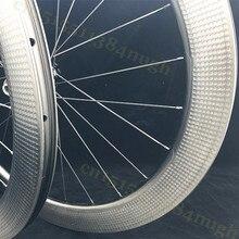 404 New 58mm Carbon-Wheels Disc-Brake Clincher Tubeless Disk Dimple 45mm 303  Novatec 411 Axle Hubs Wheelset цена 2017
