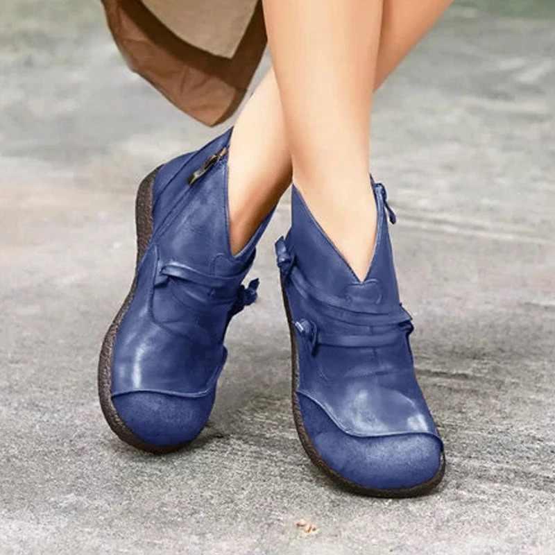 JODIMITTY Mới 2020 Thu Đông Retro Giày Bốt Nữ Thời Trang Chính Hãng Ủng Da Cá Zapatos De Mujer Vintage Ấm Botas