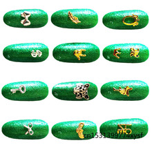 Stickers Jewelry Decoration Nail-Charms Flat-Nail-Supplies Rhinestones Heart Golden Love