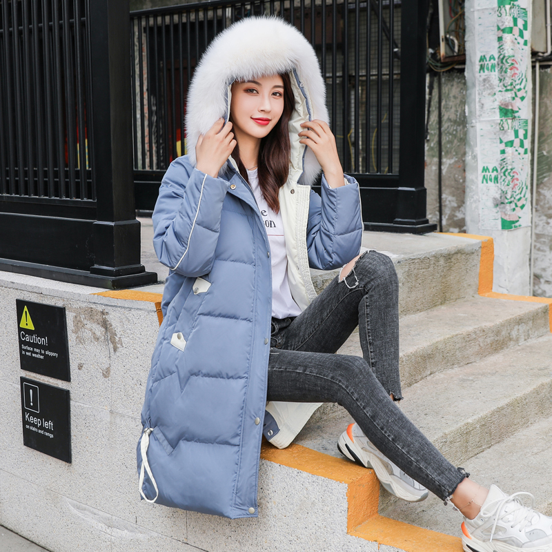 Winter Clothes 2019 Korean Long Thick Warm Duck Down Coat Female Real Fox Fur Hooded Down Parkas Ladies Outerwear LW2389