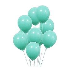 Turquesa grosso 10 pçs 12 polegada grosso 2.2g decorações de casamento látex balão feliz aniversário ballon inflável hélio suprimentos