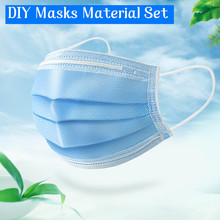 1M Hausgemachte Einweg DIY Maske Set Aktivkohle Filter Gesicht Maske Atmen Einfügen Schutz Mund Material Gesicht Chirurgische