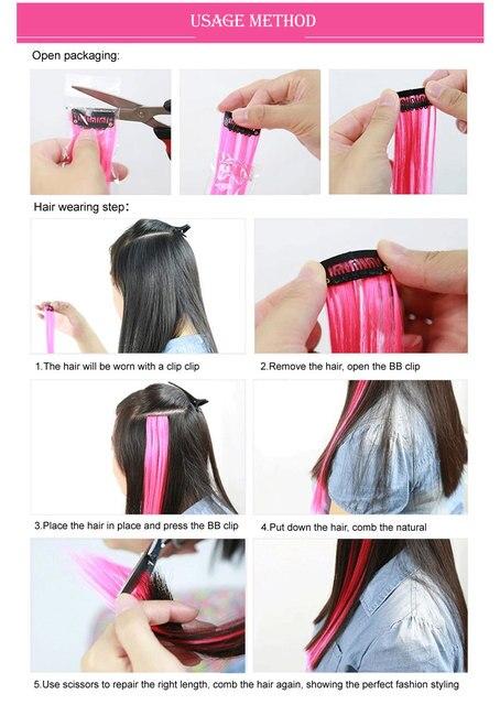 Alileader-extensiones de cabello largo sintético con Clip para niñas, mechones de pelo largo sintético con Clip, barato