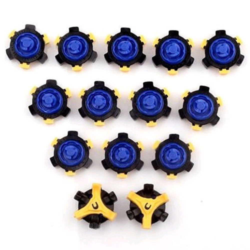 14pcs Golf Cleats Fast Twist Shoe Spikes Screw Studs Accessories Golf Shoes Spikes Golf Training Aids
