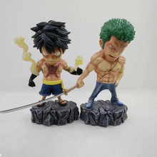 Anime One Piece Monkey D Luffy Roronoa Zoro PVC Action Figure Collectible Model doll toy 15cm one piece brinquedos meninos onepiece zoro pvc action figure collectible toys for kid boy