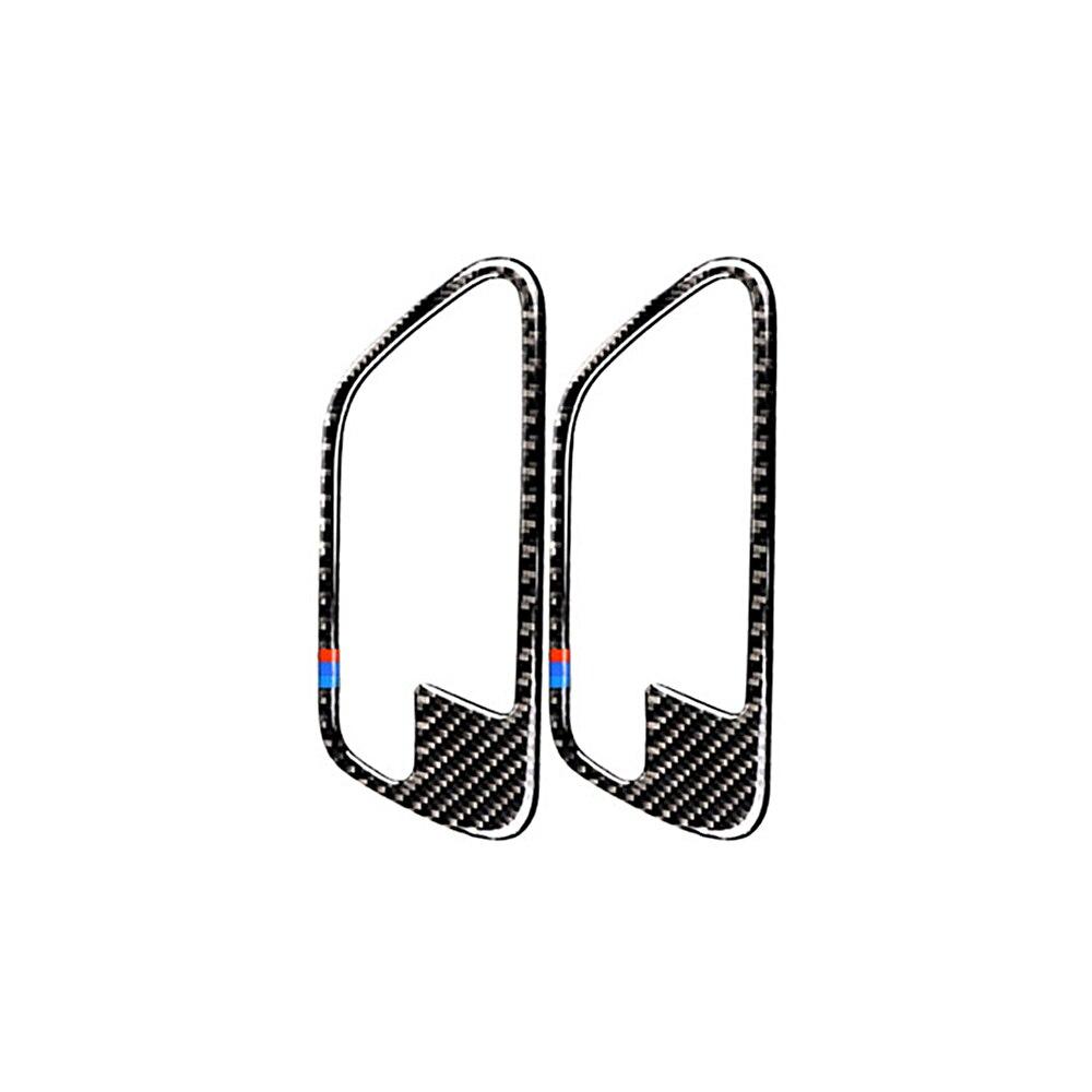 Nouveau fibre de carbone voiture intérieur porte poignée couverture garniture porte bol autocollants décoration 2 Style pour BMW F30 F31 F32 F33 F34 2012-2020