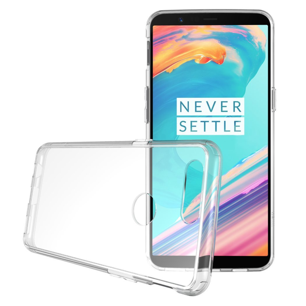 Transparent Shockproof <font><b>Silicone</b></font> Slim Phone <font><b>Case</b></font> for <font><b>OnePlus</b></font> 5 <font><b>5T</b></font> One Plus <font><b>5T</b></font> Soft Clear TPU Ultrathin Durable Offical Back Cover image