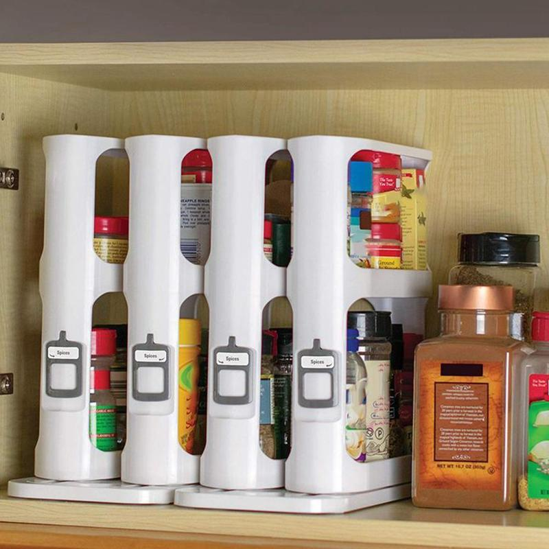 Creative Rack Multifunction Cosmetics Holder Kitchen Storage Box Kitchen Spice Organizer