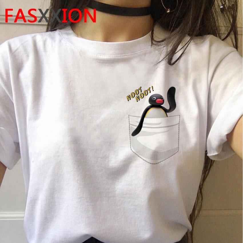 2020 Noot Noot TShirt Men Funny Cartoon Pingu Nootnoot T Shirts Anime HOT TV T-shirt  Male Tops Graphic Tees Hip Hop