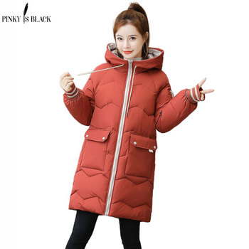 PinkyIsBlack Plus Size 3XL Women Winter Jacket Hooded Stand Collar Cotton Padded Female Winter Coat Women Warm Thick Long Parkas women s thick warm long winter jacket women parkas hooded cotton padded winter coat female
