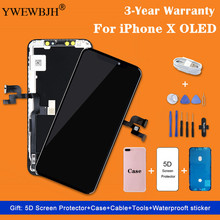 AAA+++ For iPhone X XS OLED With 3D Touch Digitizer AssemblyLCD Screen Replacement Display  For iPhoneX LCD No Dead Pixel