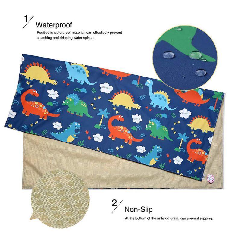 Highchair Splash Mat Baby Paint Splash Mat Large Protective Floor Splash Mat Waterproof And Anti Slip 140cm×140cm U50F